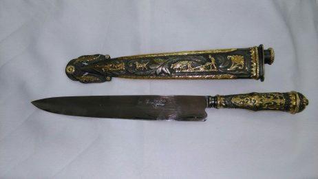 Cuchillo en Oro 18K y vaina