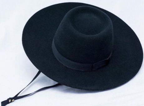 Sombrero cury color Negro