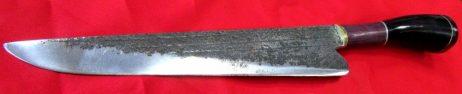 Cuchillo artesanal acero envejecido 3 listas