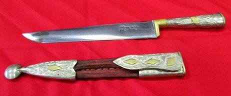 Cuchillo y vaina en alpaca y bronce-portada